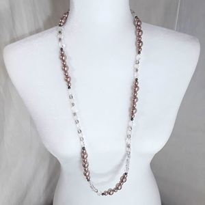White House Black Market Champagne Pearl Necklace